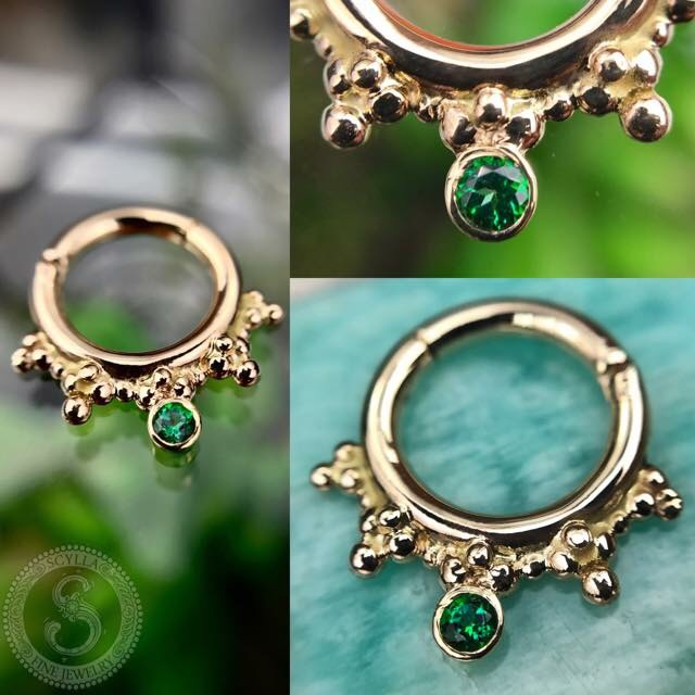 Custom Caleigh Green Ring